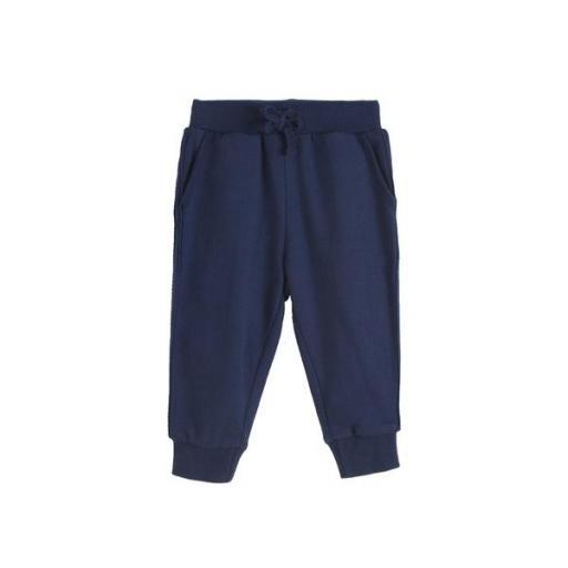 Pantalón largo de chandal niño azul