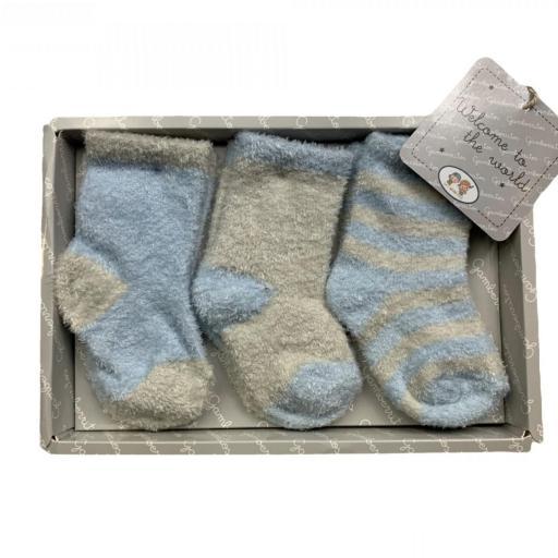 Pack de 3 calcetines de rizo en rosa o azul [1]