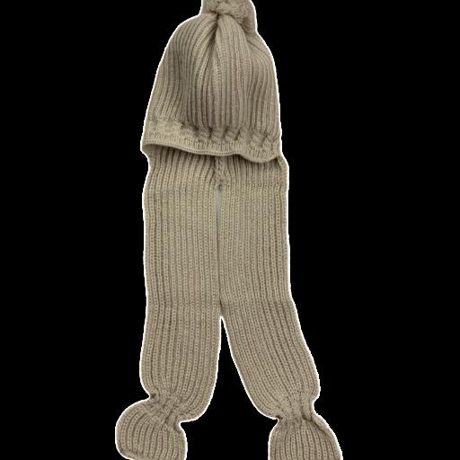 Gorro con pompon y bufanda integrada [3]