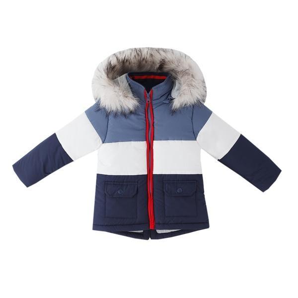Abrigo acolchado para niño tricolor
