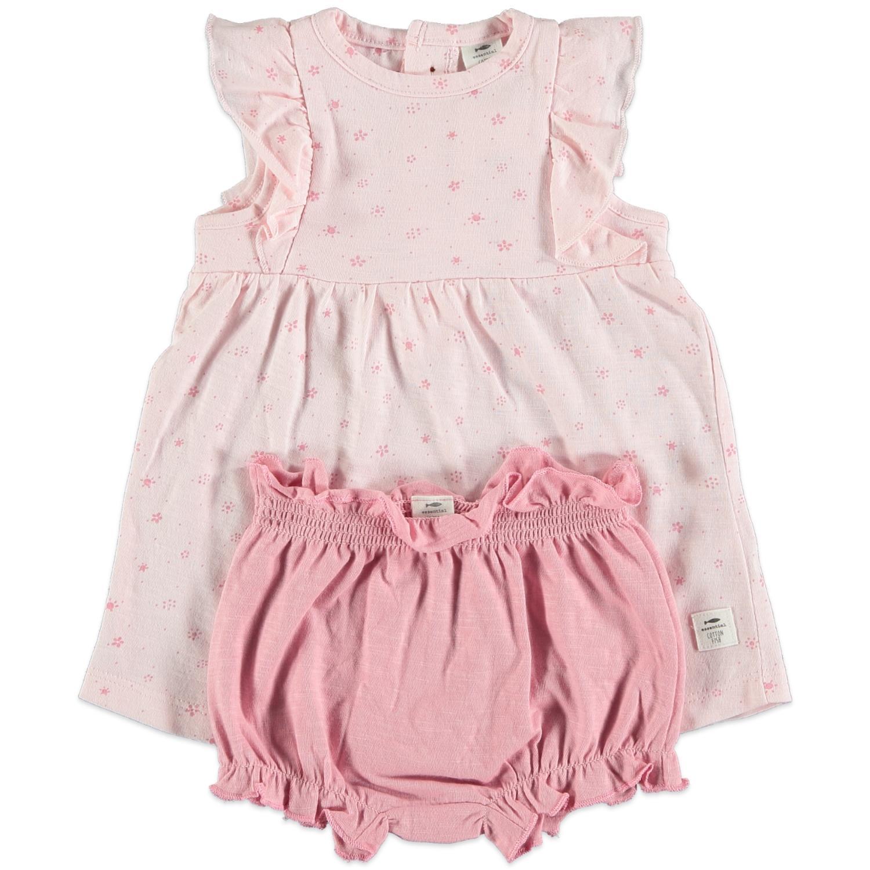 Vestido + cubrepañal Pink Petal