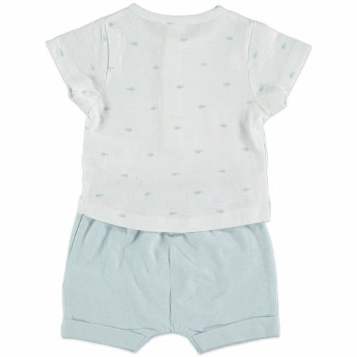 Conjunto algodón azul grisáceo [1]