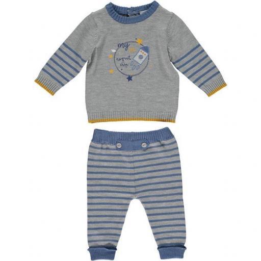Conjunto niño 2 piezas en algodón tricot Roquet