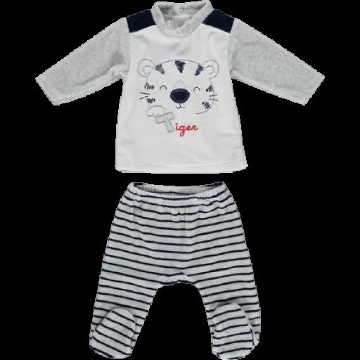 Conjunto polaina 2 piezas tundosado en gris niño Tiger