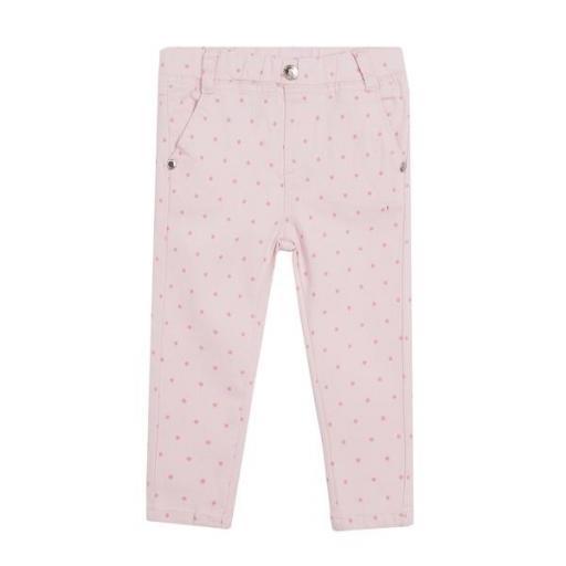 Vaquero jegging rosa con lunares para niña [0]