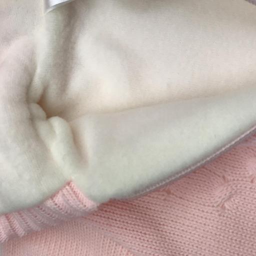 Chaqueta-Abrigo de punto con forro polar en rosa [2]