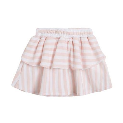 Falda de felpa con rayas  [1]