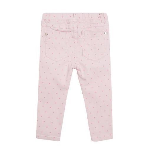 Vaquero jegging rosa con lunares para niña [1]