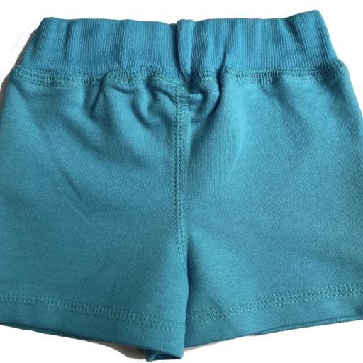 Pantalón corto de niña azul [1]