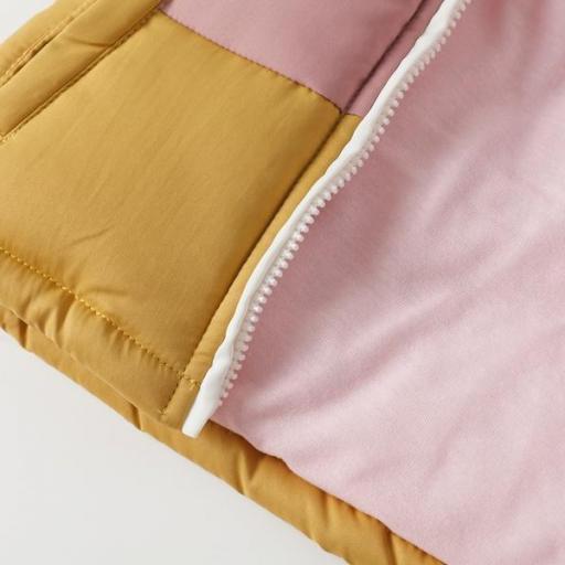 Abrigo acolchado para niña tricolor [3]