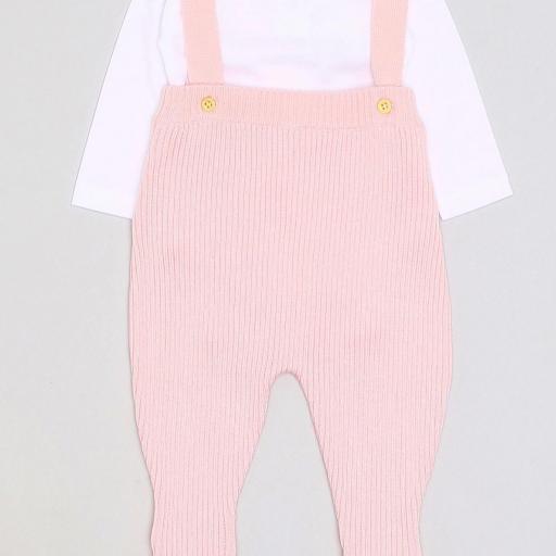 Ranita de punto con body en rosa para niña [0]