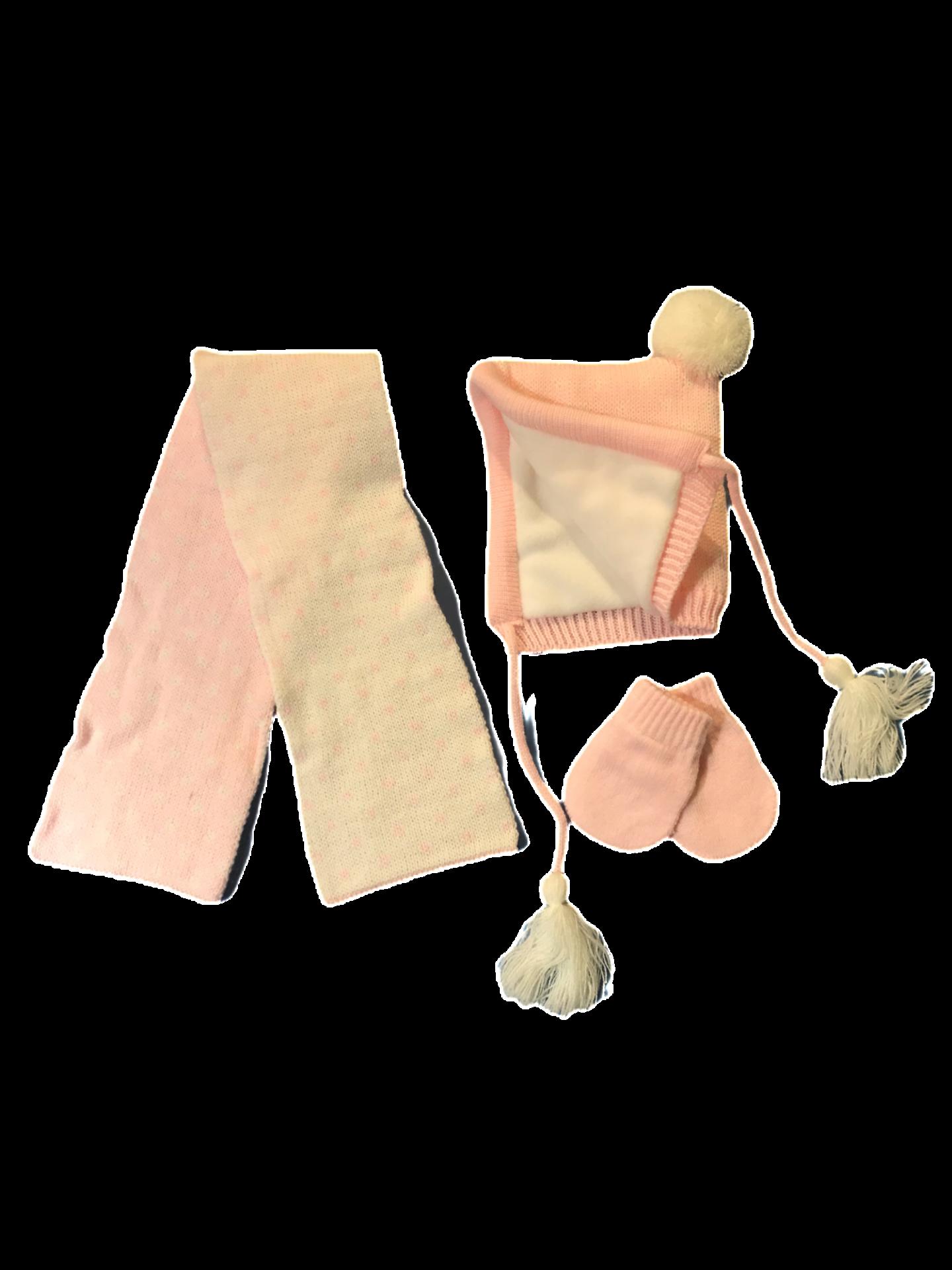 Conjunto 3 piezas de exterior en rosa