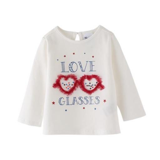 Camiseta de niña Glasses