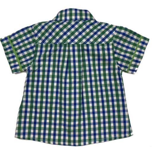 Camisa de niño de popelín a cuadros [1]