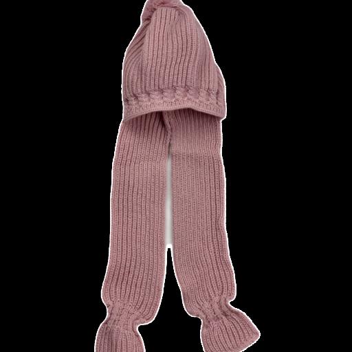 Gorro con pompon y bufanda integrada [2]