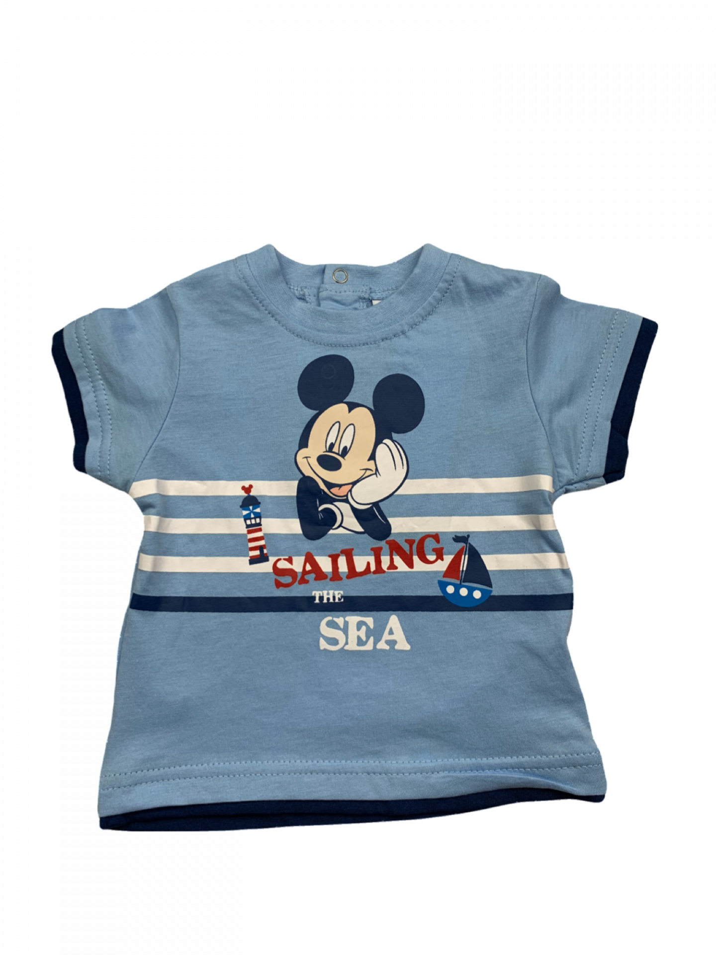 Camiseta de niño celeste Sailing Mickey