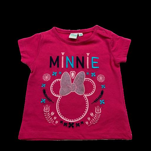 Camiseta de niña fucsia Minnie