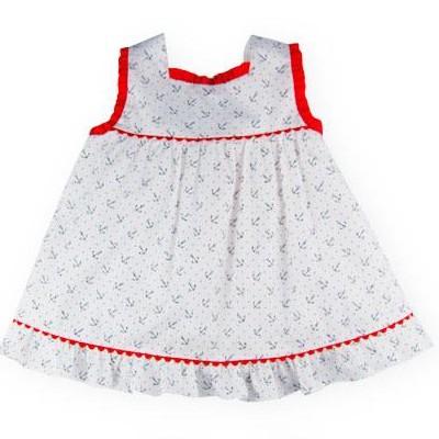 Vestido de niña Anclas