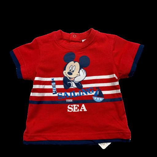 Camiseta de niño roja Sailing Mickey [0]