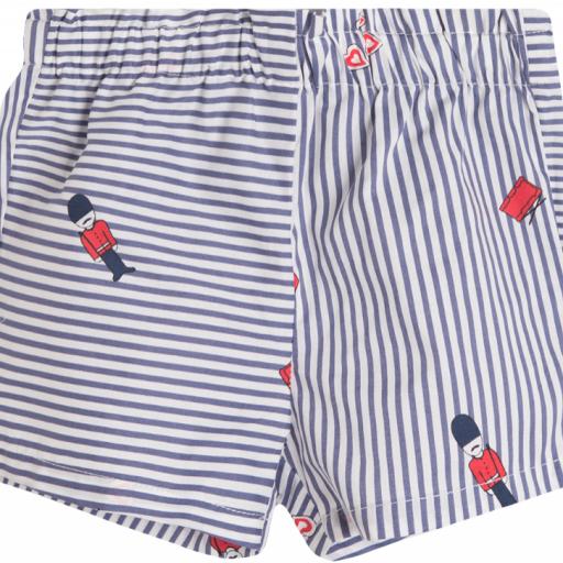 Shorts para niña de rayas