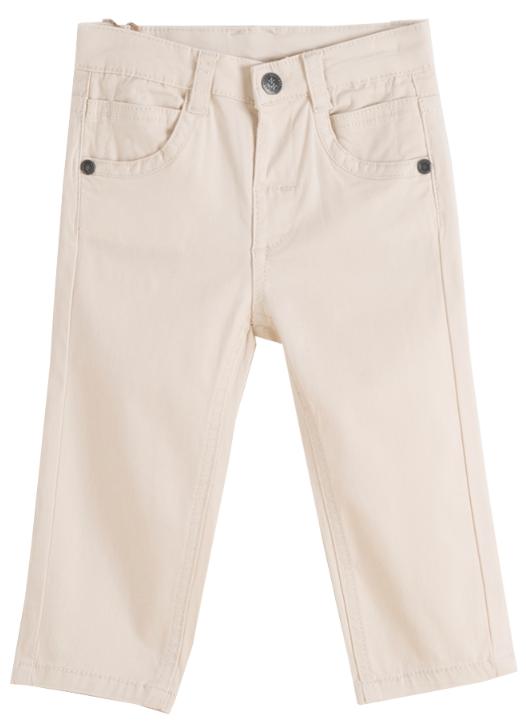 Pantalon largo de niño beige vaquero