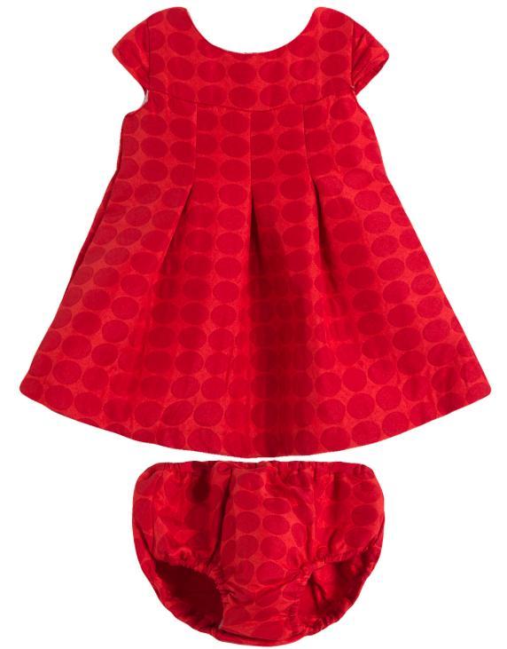 Vestido de fiesta rojo con braguita