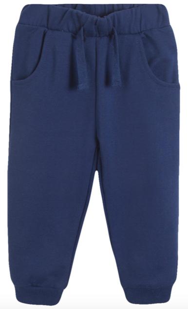 Pantalón largo de niño de felpa azul