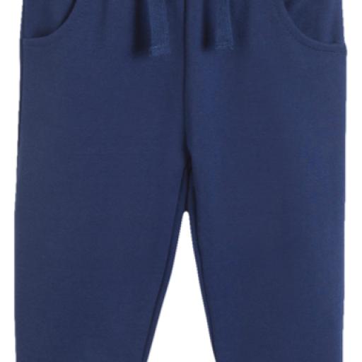 Pantalón largo de niño de felpa azul [0]