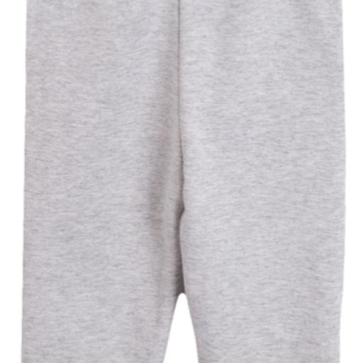 Pantalón largo de niño de chandal en felpa gris [1]
