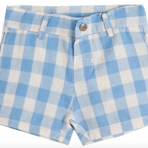 Short de niño de cuadritos blancos y azules [0]