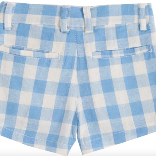 Short de niño de cuadritos blancos y azules [1]