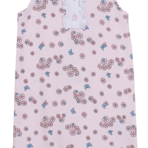 Pijama de niña florecitas