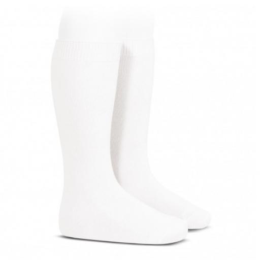 Calcetín alto liso condor unisex Blanco