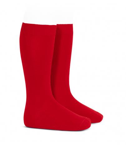 Calcetín alto liso condor unisex Rojo