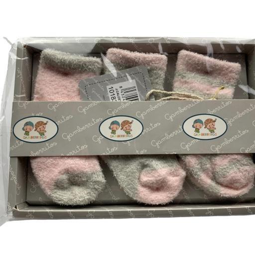 Pack de 3 calcetines de rizo en rosa o azul [2]