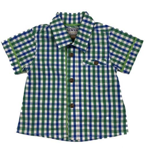 Camisa de niño de popelín a cuadros
