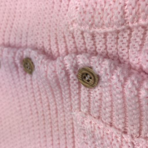 Chaqueta doble de punto para niña en rosa [1]