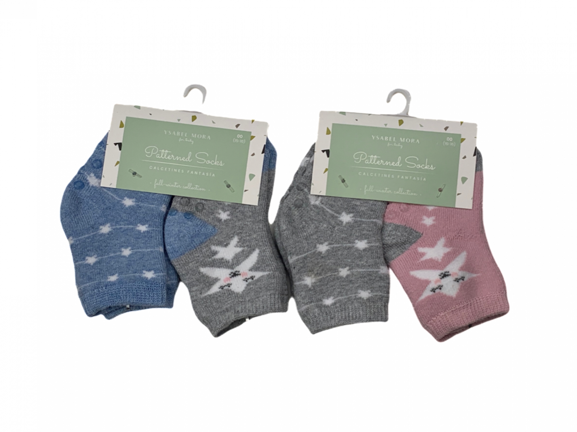 Pack de 2 pares de calcetines de niña Stars