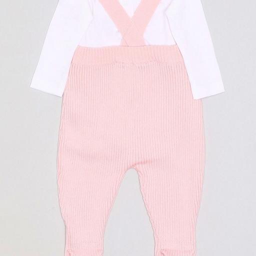 Ranita de punto con body en rosa para niña [1]