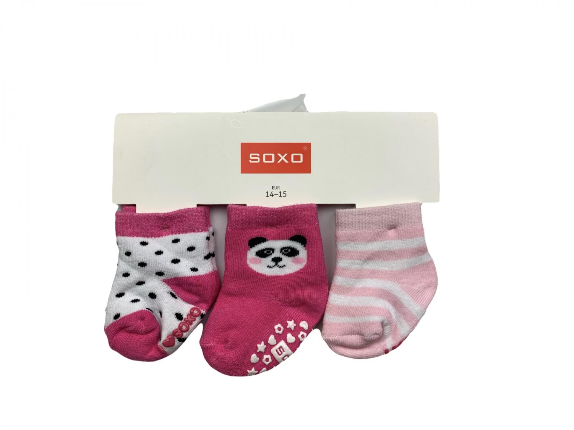 Pack de 3 calcetines antideslizantes rosa