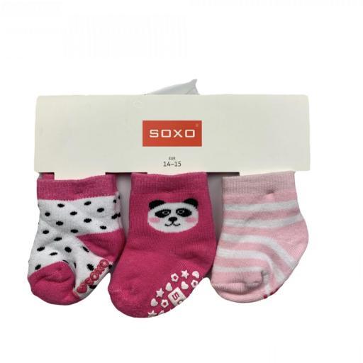 Pack de 3 calcetines antideslizantes rosa [0]