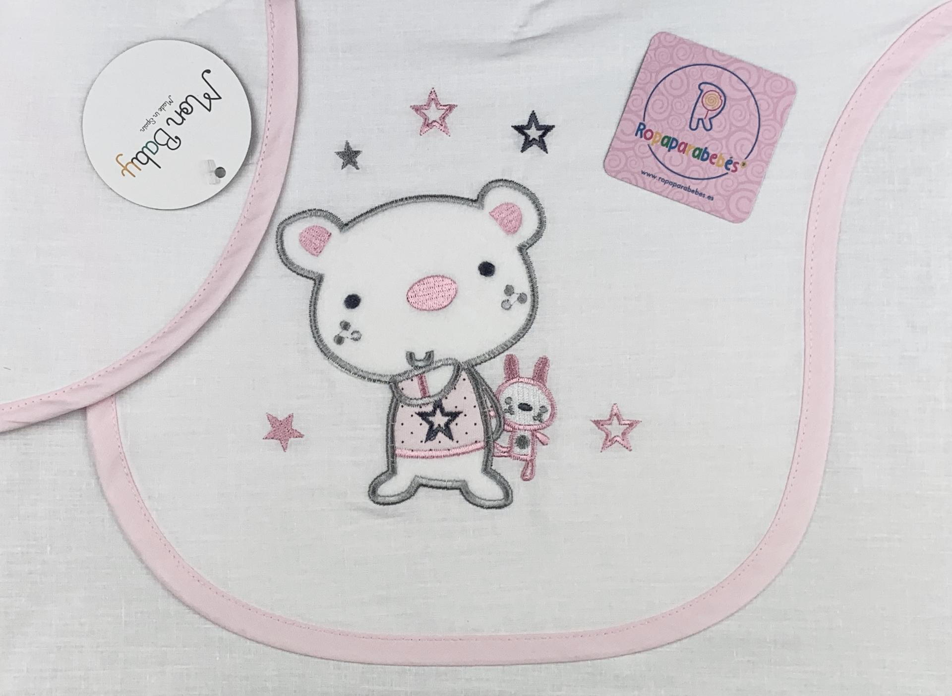 Sábana cochecito 40 x 80 en rosa Osito Star