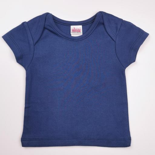 Vestido y camiseta a juego en tonos azules (algodón orgánico) [3]
