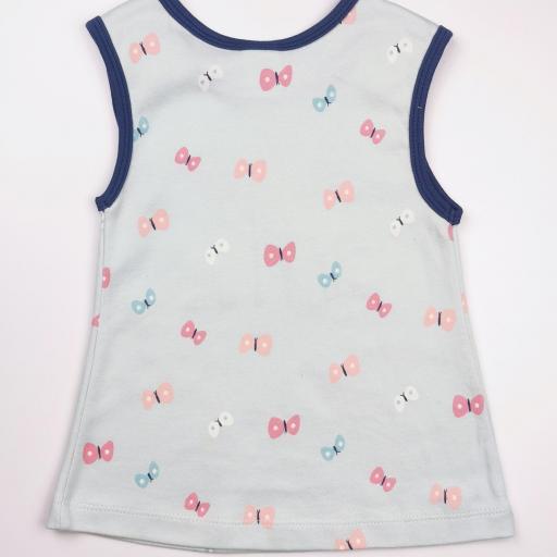 Vestido y camiseta a juego en tonos azules (algodón orgánico) [2]