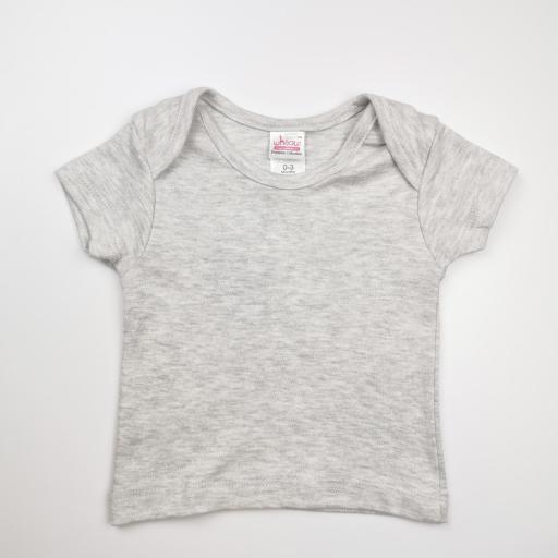 Vestido y camiseta a juego en rosa y gris (algodón orgánico) [3]