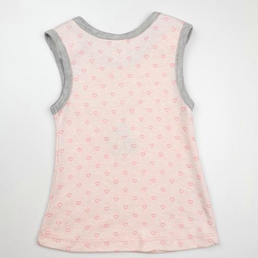 Vestido y camiseta a juego en rosa y gris (algodón orgánico) [2]