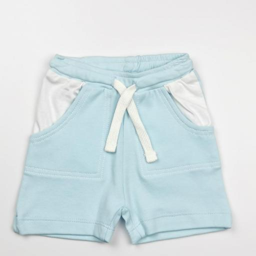 Conjunto niño blanco y azul (algodón orgánico) [2]