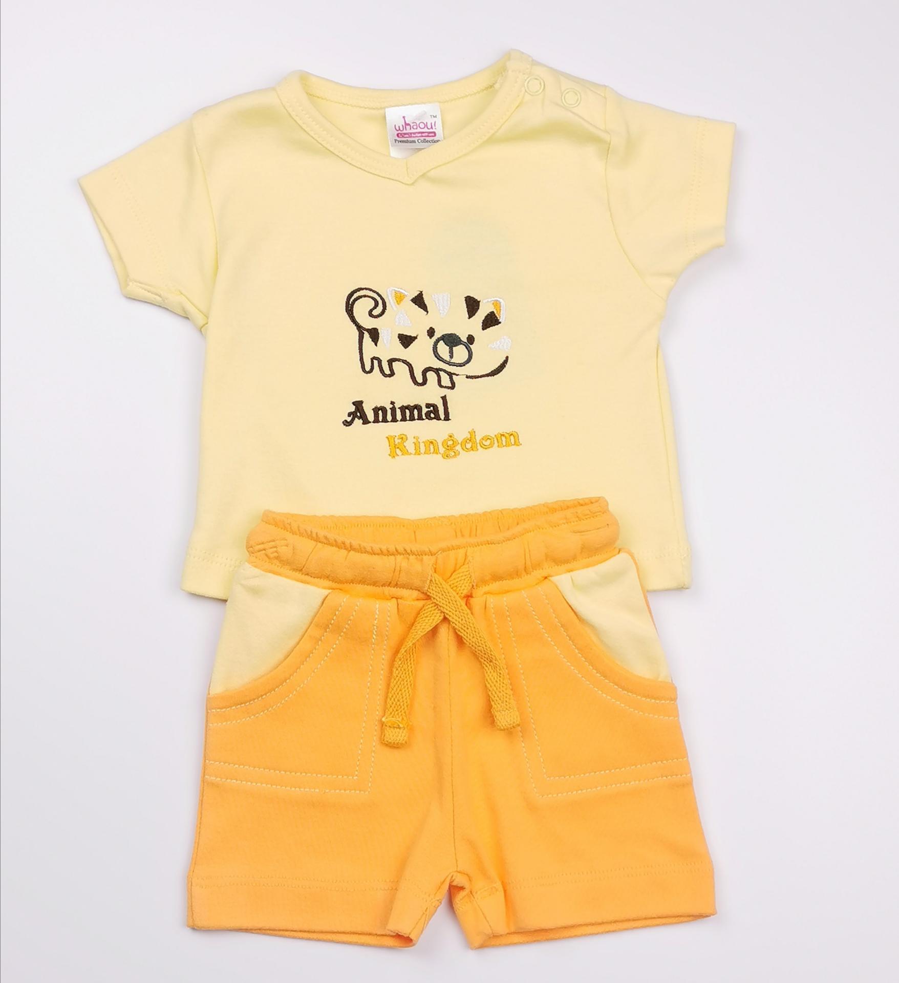 Conjunto niño amarillo y naranja (algodón orgánico)