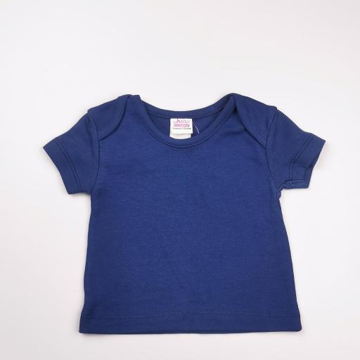 Pelele con camiseta a juego azul y blanco (algodón orgánico) [2]