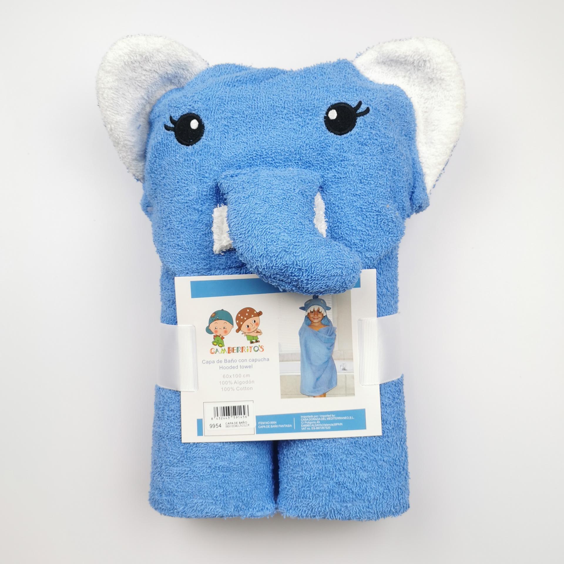 Capa de baño con capucha Elefante